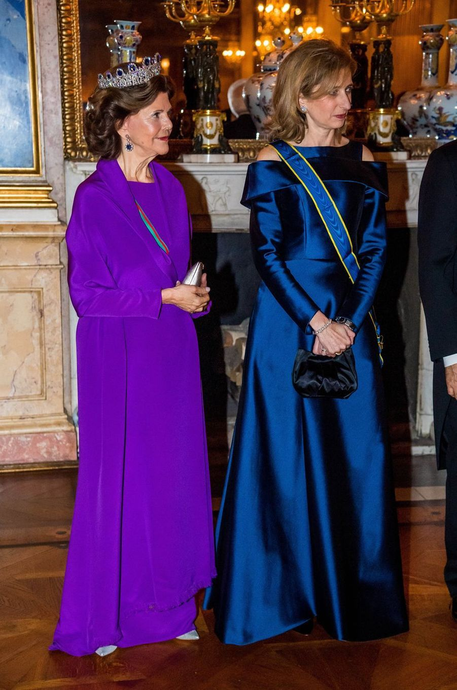 La reine Silvia de Suède et Laura Mattarella à Stockholm, le 13 novembre 2018