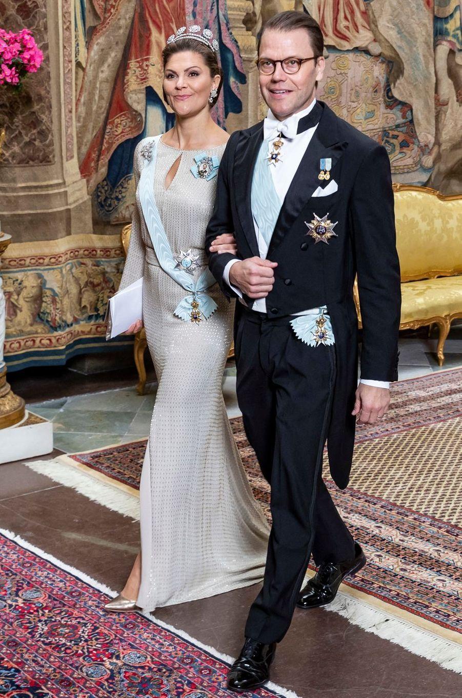 La princesse Victoria et le prince consort Daniel de Suède à Stockholm, le 12 novembre 2019