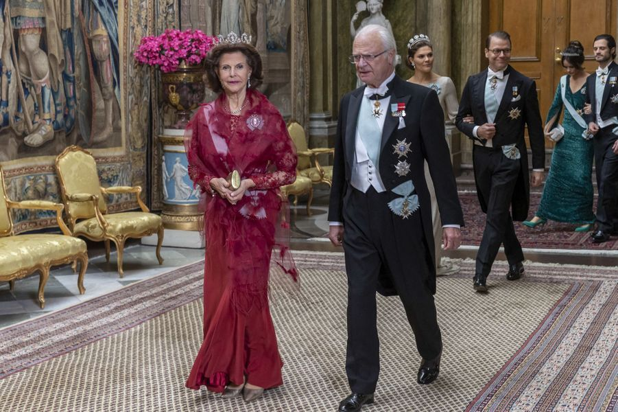 La famille royale de Suède à Stockholm, le 12 novembre 2019