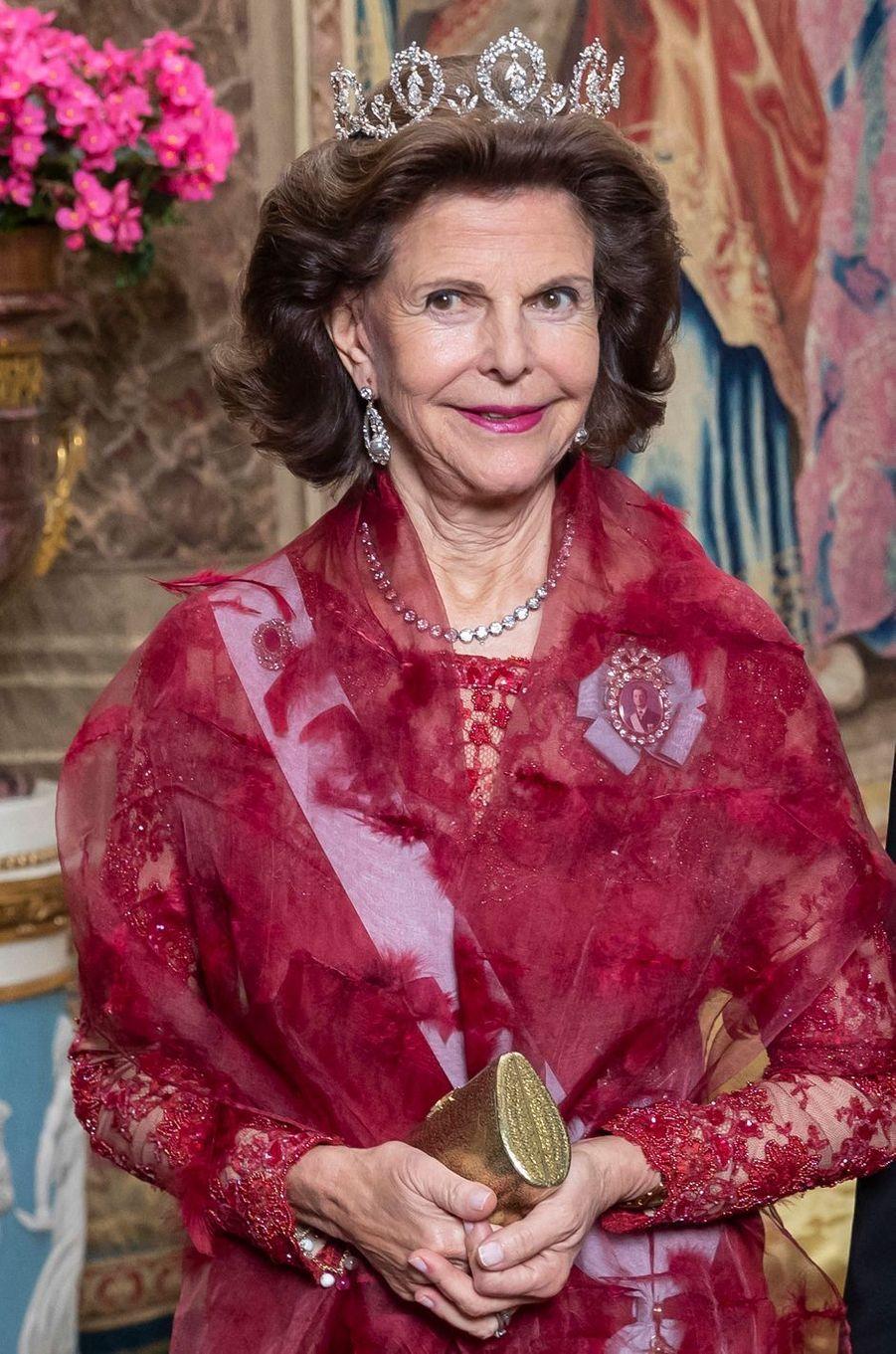 La reine Silvia de Suède à Stockholm, le 12 novembre 2019