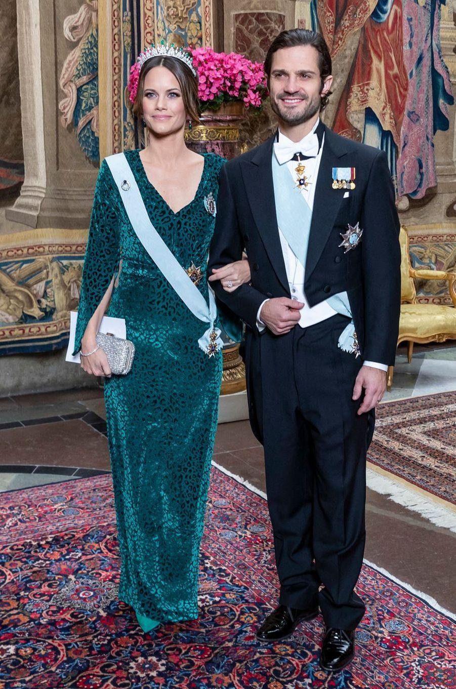 La princesse Sofia et le prince Carl Philip de Suède à Stockholm, le 12 novembre 2019