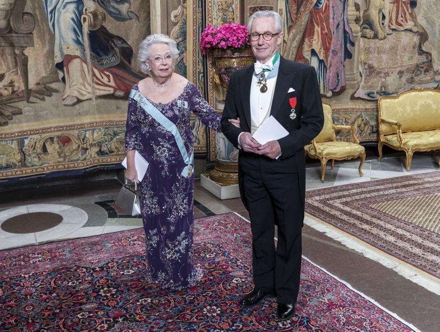 La princesse Christina de Suède et son mari Tord Magnuson à Stockholm, le 12 novembre 2019