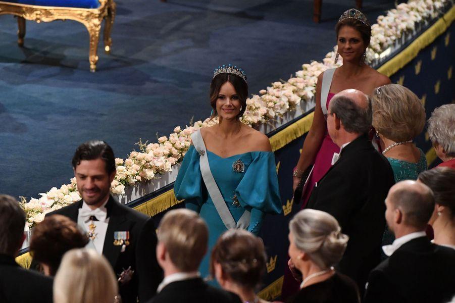 Le prince Carl Philip et les princesses Sofia et Madeleine de Suède à Stockholm, le 10 décembre 2019