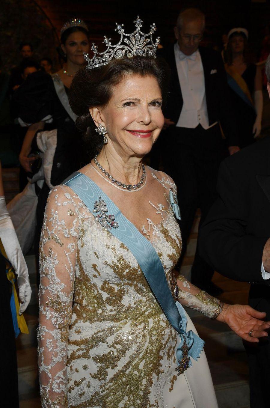 La reine Silvia de Suède à Stockholm, le 10 décembre 2019