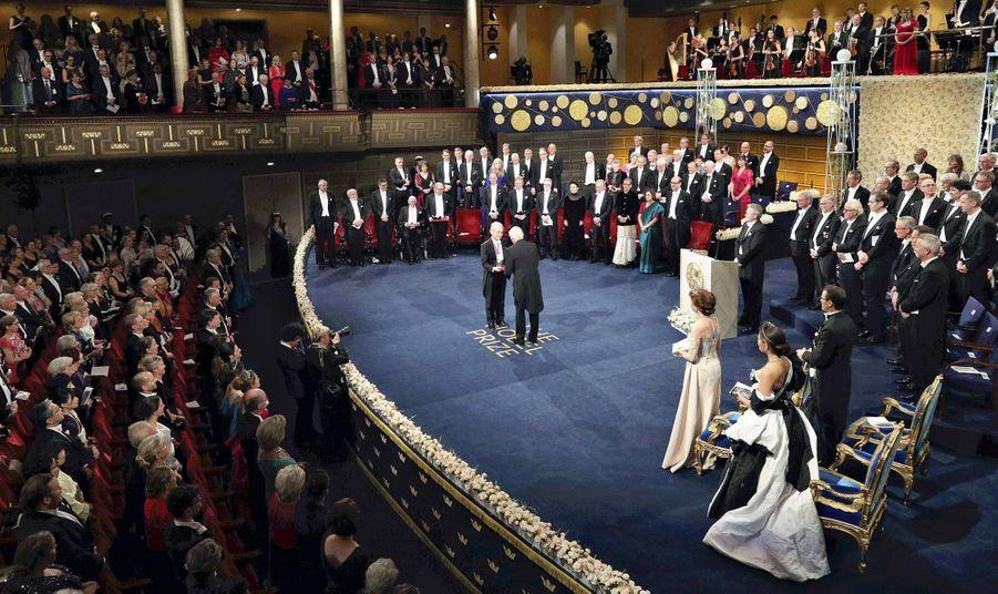 Remis des prix Nobel par le roi Carl XVI Gustaf de Suède à Stockholm, le 10 décembre 2019