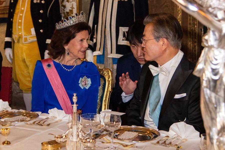 La reine Silvia de Suède à Stockholm, le 14 juin 2019