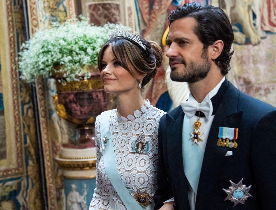 La princesse Sofia et le prince Carl Philip de Suède à Stockholm, le 14 juin 2019