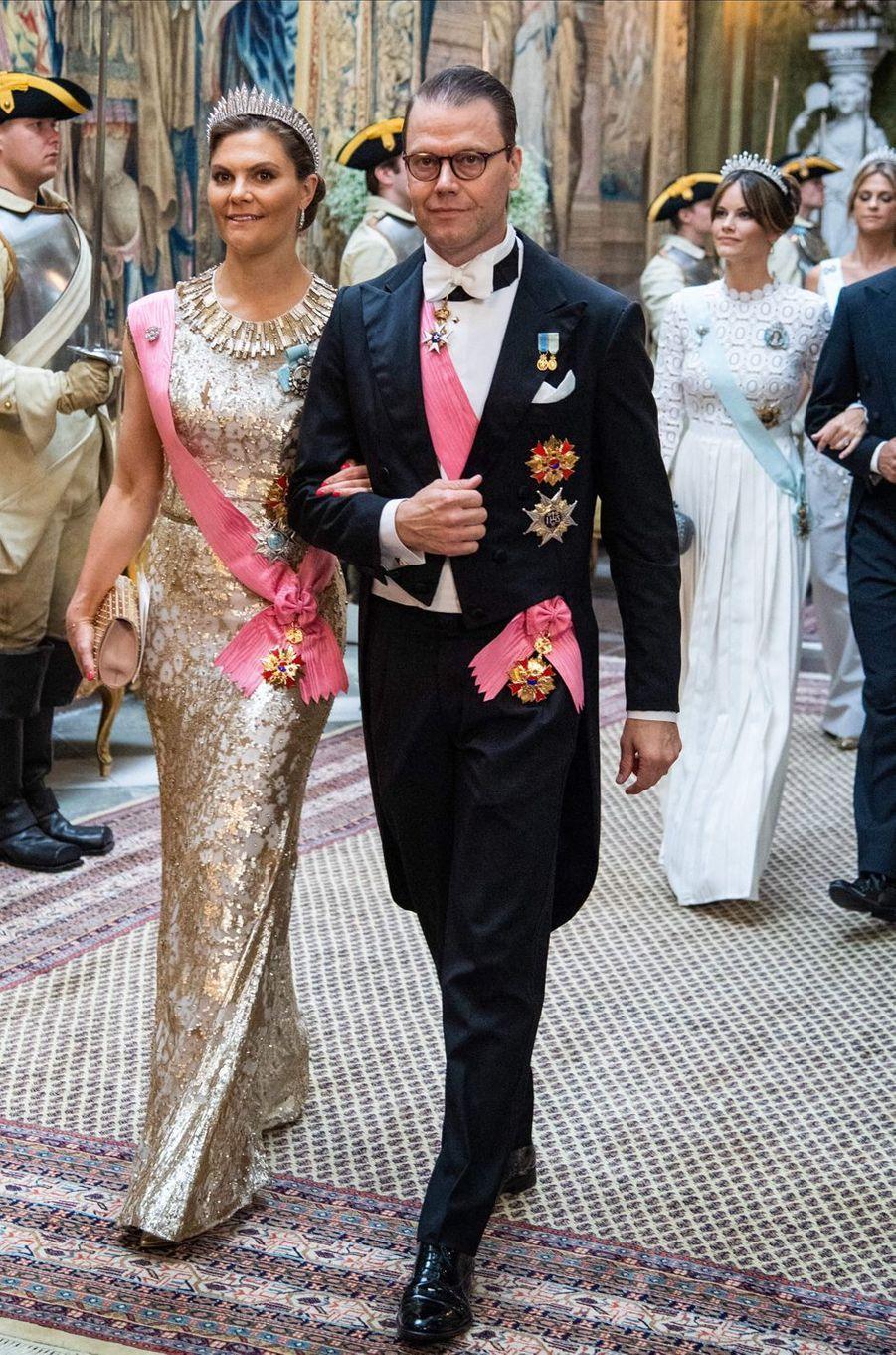 La princesse Victoria de Suède et le prince consort Daniel à Stockholm, le 14 juin 2019
