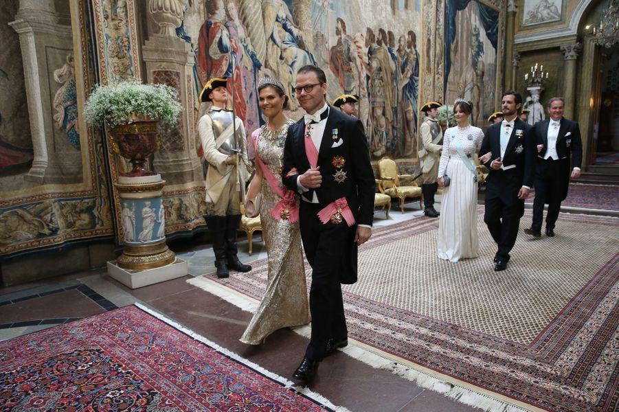 La famille royale de Suède à Stockholm, le 14 juin 2019