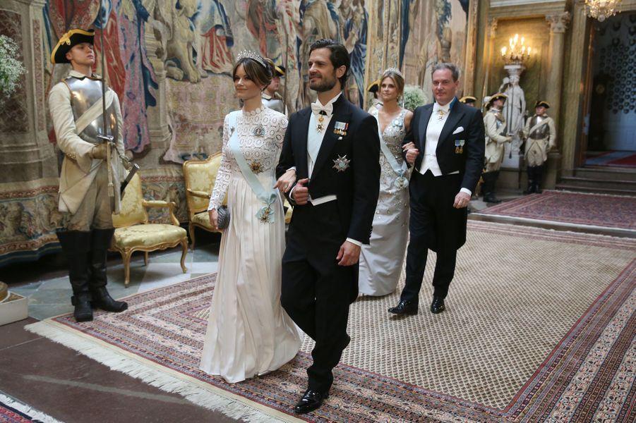 Les princesses Sofia et Madeleine, le prince Carl Philip de Suède et Christopher O'Neill à Stockholm, le 14 juin 2019