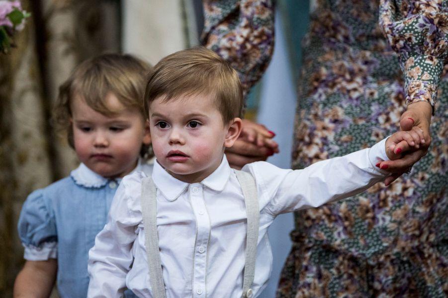 Les princes Alexander et Oscar de Suède, le 8 juin 2018