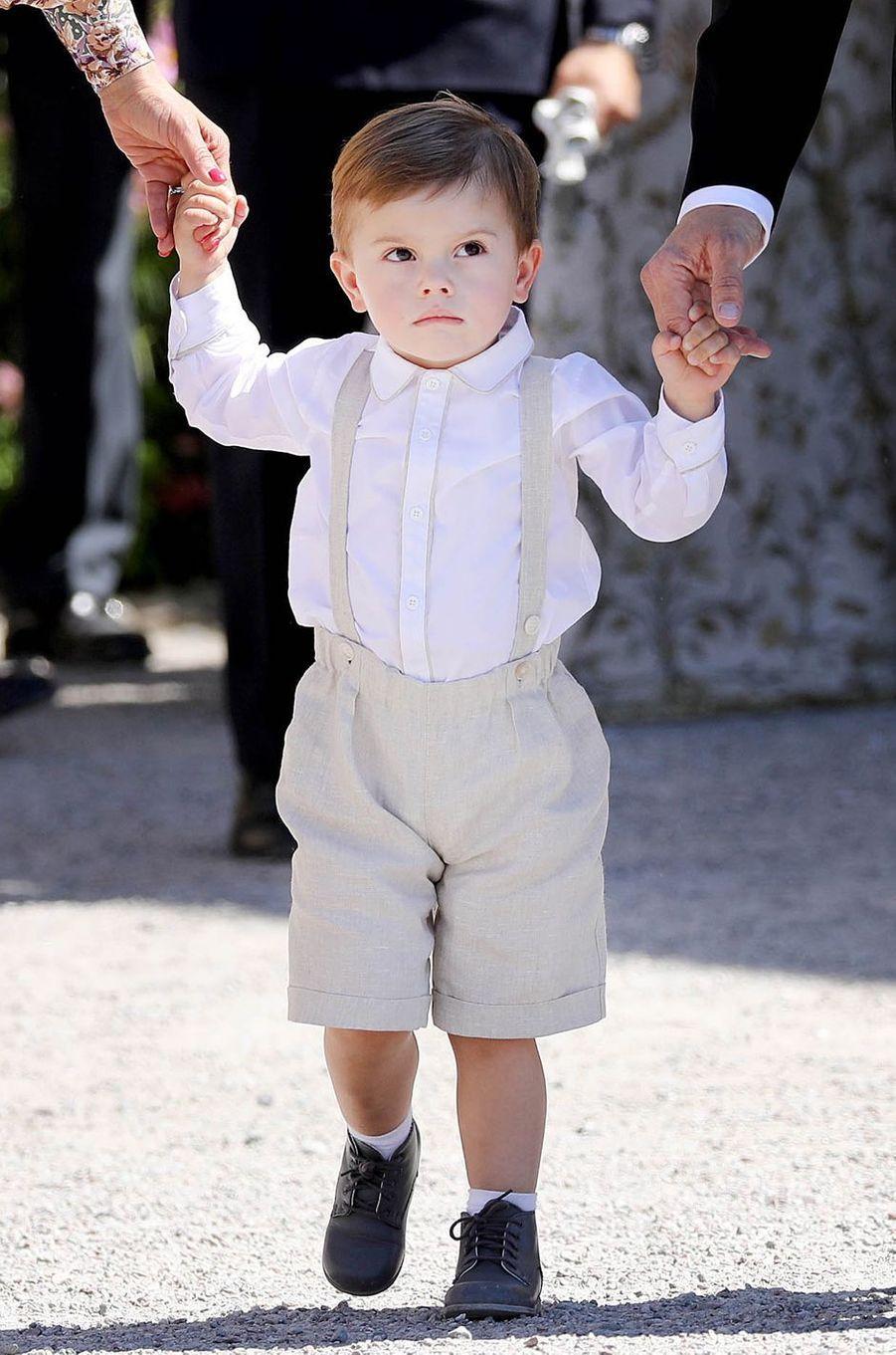 Le prince Oscar de Suède, le 8 juin 2018