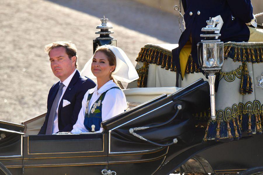 La princesse Madeleine de Suède et son mari Christopher O'Neill à Stockholm, le 6 juin 2017