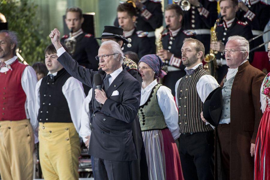 Le roi Carl XVI Gustaf de Suède à Stockholm, le 6 juin 2017