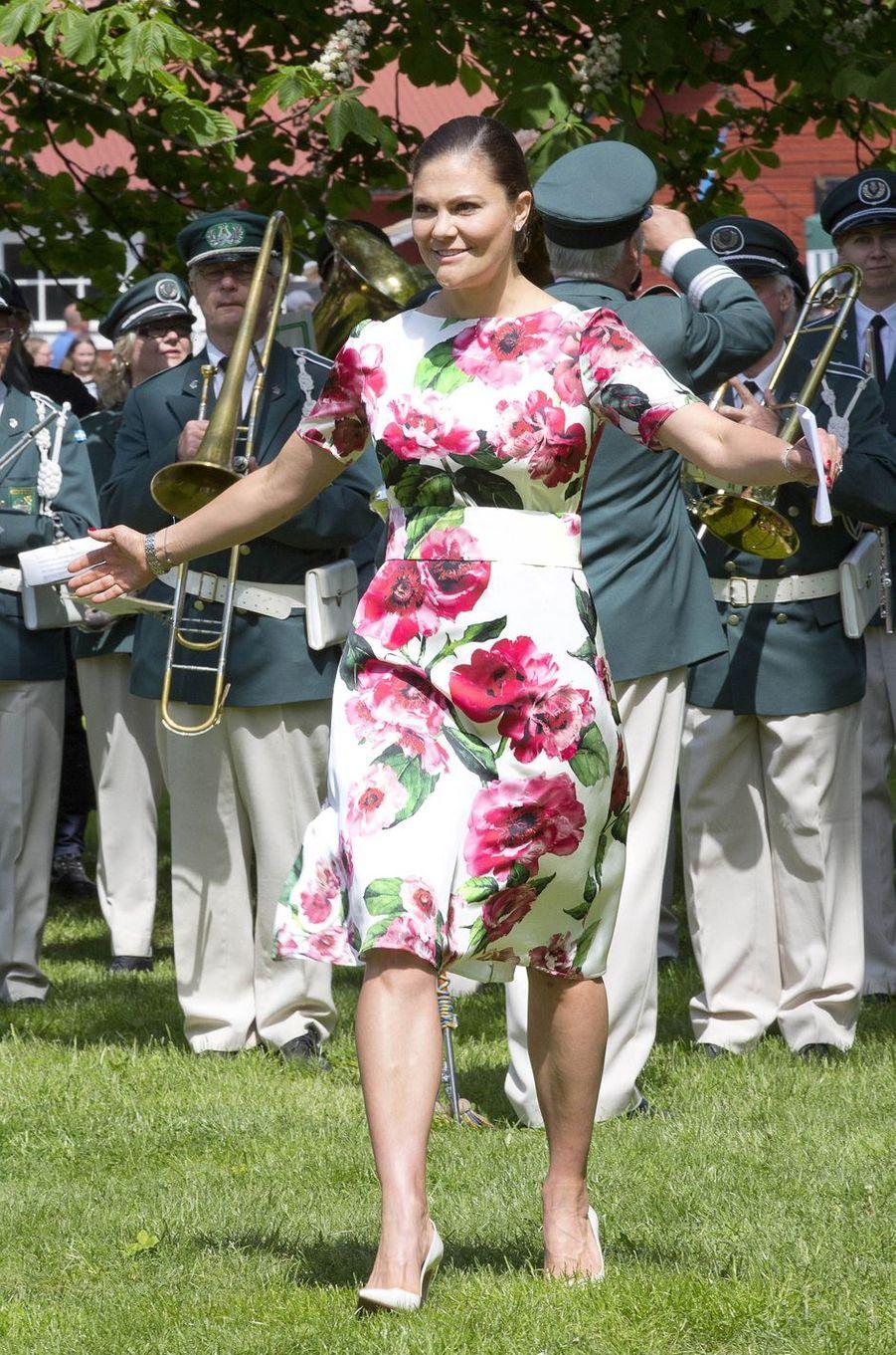 La princesse Victoria de Suède à Järfälla, le 6 juin 2017
