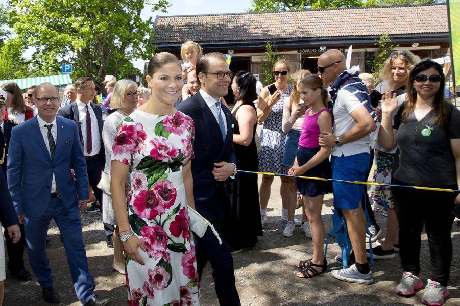La princesse Victoria de Suède et le prince consort Daniel à Järfälla, le 6 juin 2017