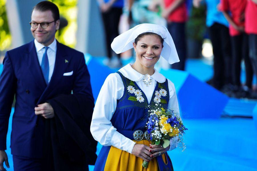 La princesse Victoria de Suède et le prince consort Daniel à Stockholm, le 6 juin 2017