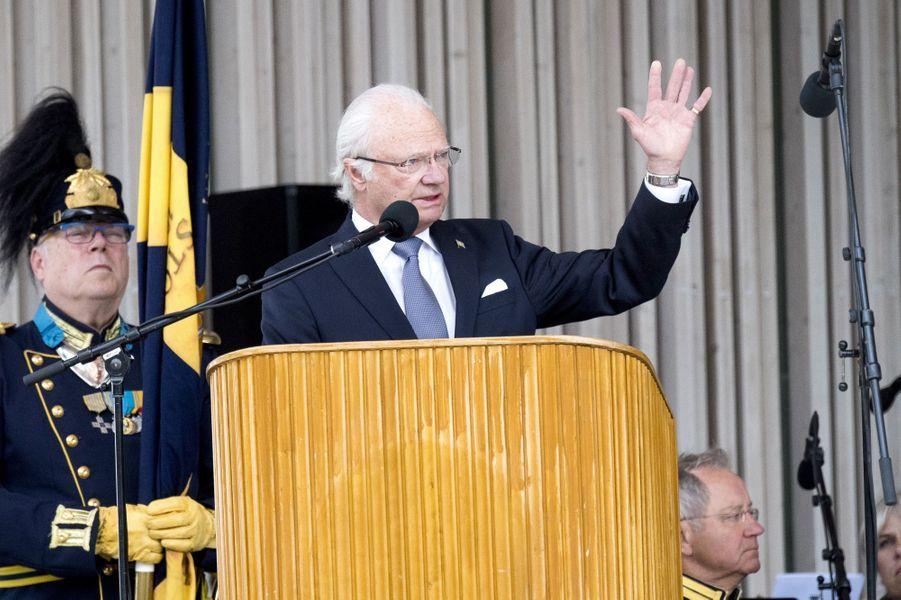 Le roi Carl XVI Gustaf de Suède à Växjö, le 6 juin 2017
