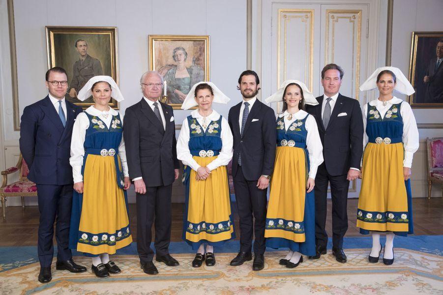 La famille royale de Suède à Stockholm, le 6 juin 2017