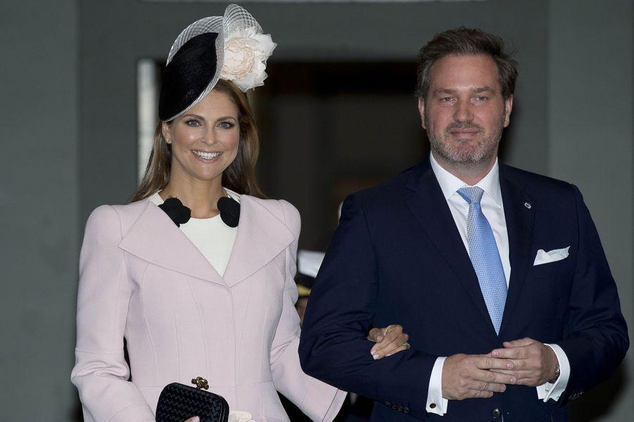 La princesse Madeleine de Suède avec son mari Christopher O'Neill, le 30 avril 2016