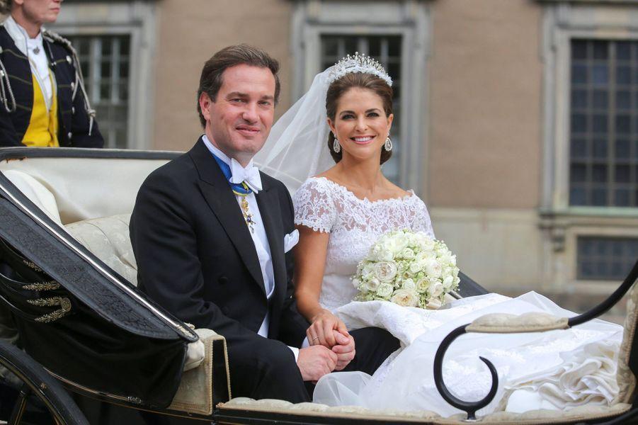 La princesse Madeleine de Suède le 8 juin 2013, jour de son mariage avec Christopher O'Neill
