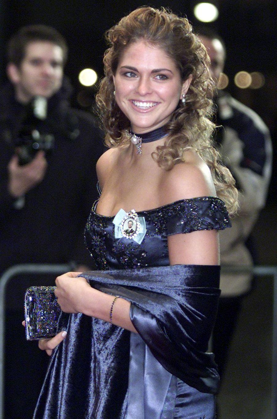 La princesse Madeleine de Suède, le 31 janvier 2002