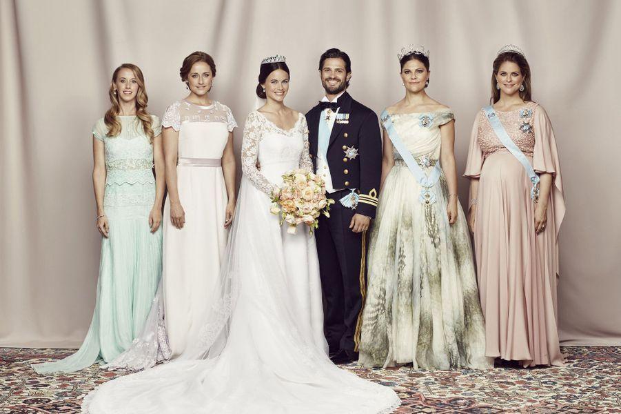 La princesse Madeleine sur les photos officielles de mariage de Carl Philip et Sofia, le 13 juin 2015.