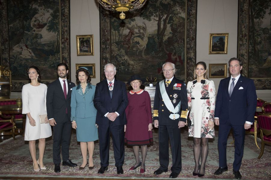 La famille royale de Suède à Stockholm, le 20 février 2017