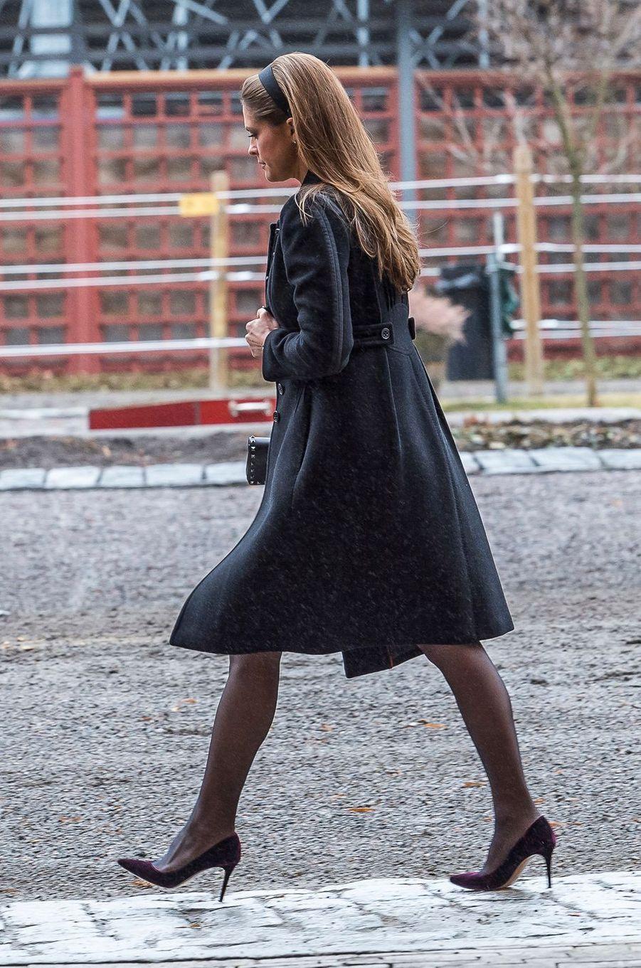 La princesse Madeleine de Suède à Stockholm, le 20 février 2017