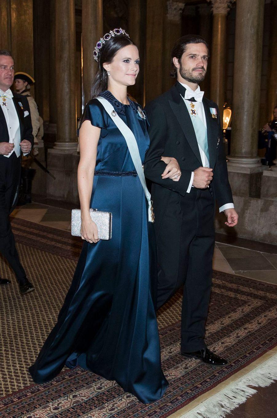 La princesse Sofia et le prince Carl Philip de Suède à Stockholm, le 20 février 2017