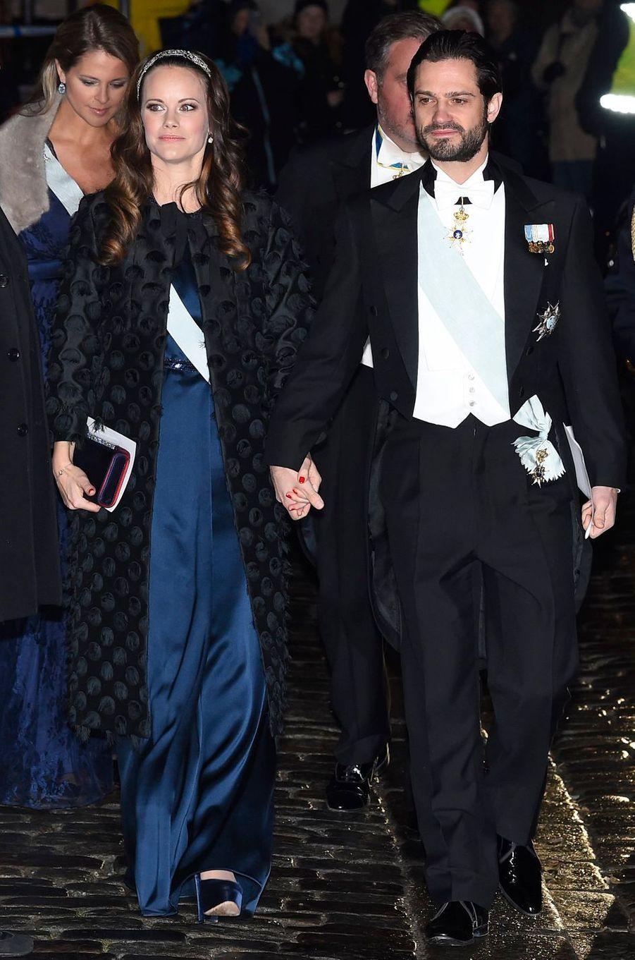 La princesse Sofia et le prince Carl Philip de Suède à Stockholm, le 20 décembre 2017