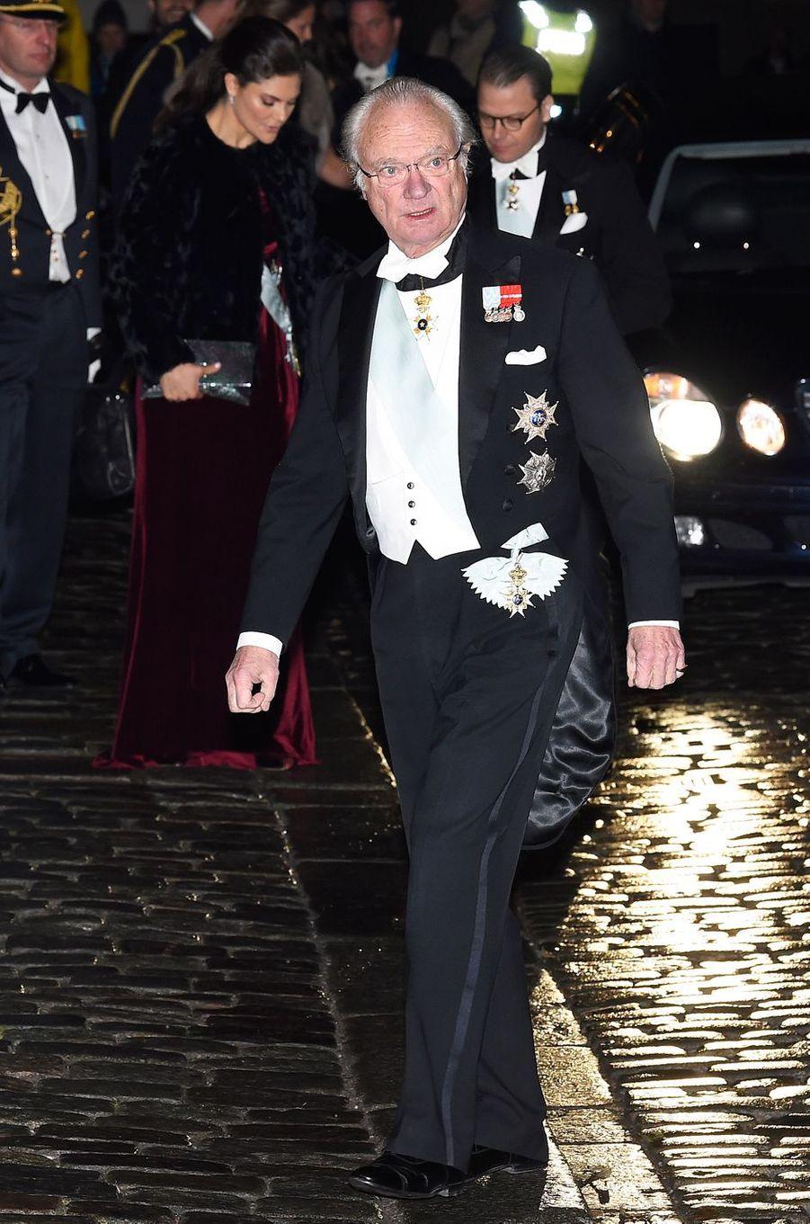 Le roi Carl XVI Gustaf de Suède à Stockholm, le 20 décembre 2017
