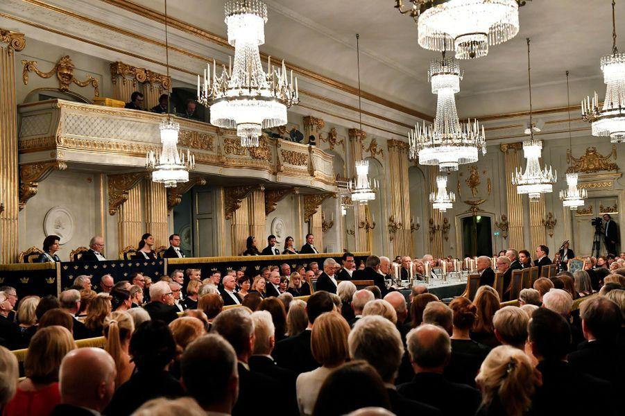 La famille royale de Suède à Stockholm, le 20 décembre 2017
