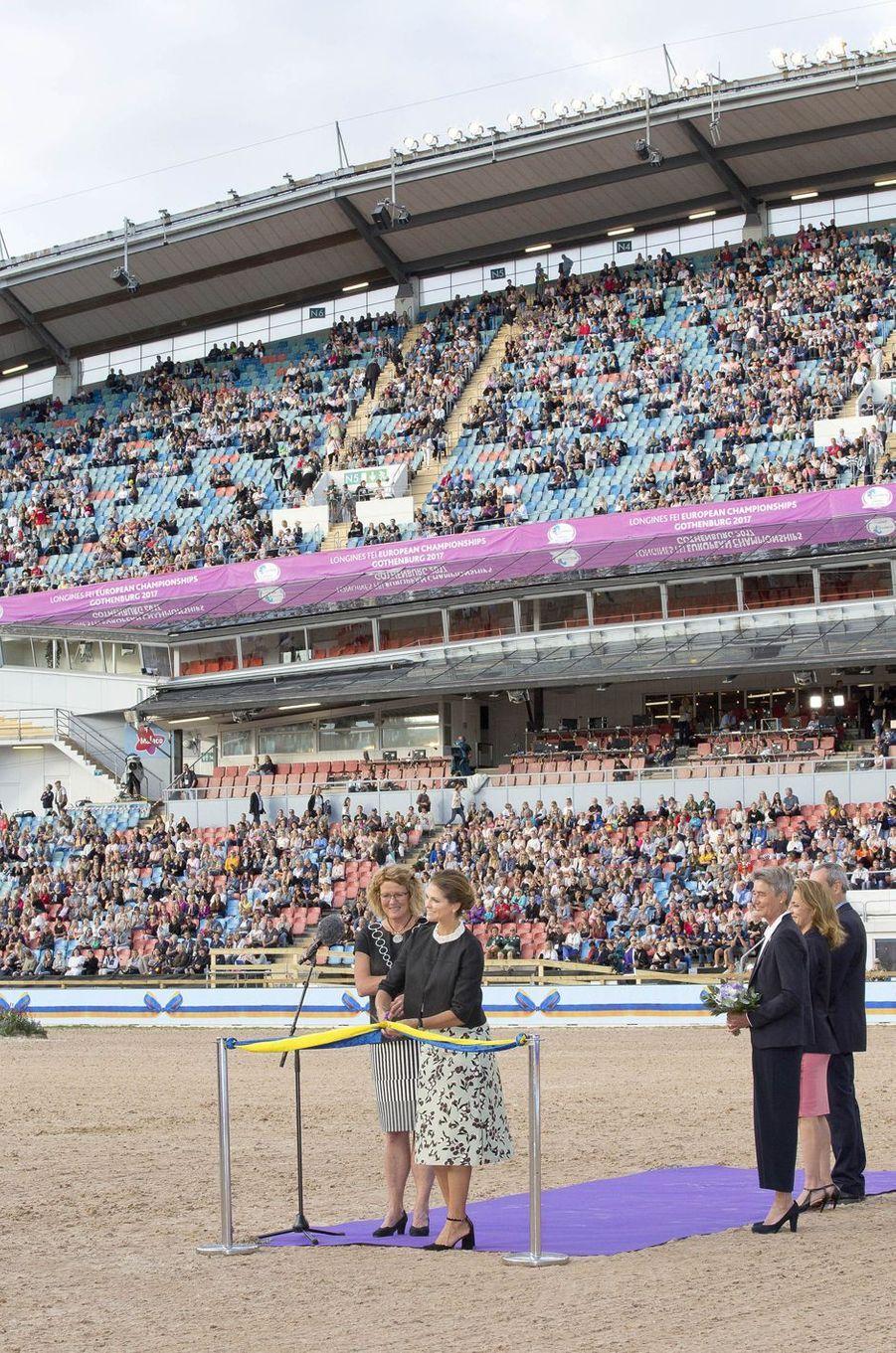 La princesse Madeleine de Suède à Göteborg, le 21 août 2017