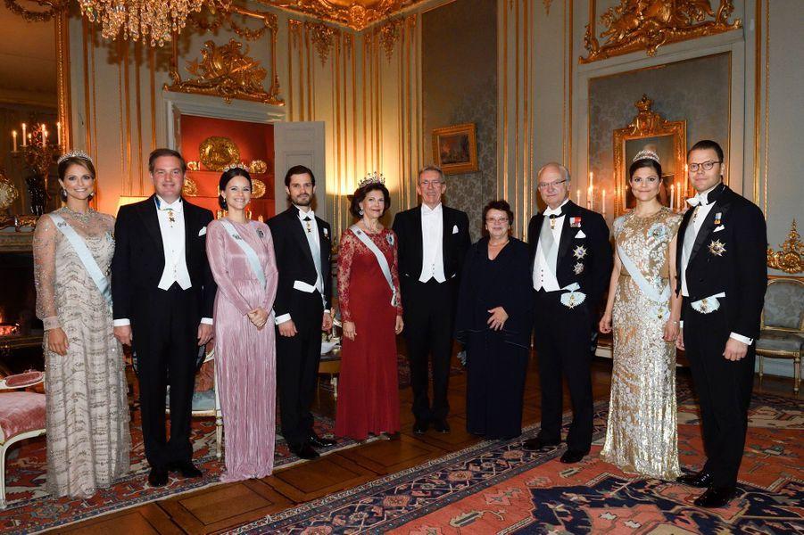 La famille royale de Suède à Stockholm, le 11 décembre 2016