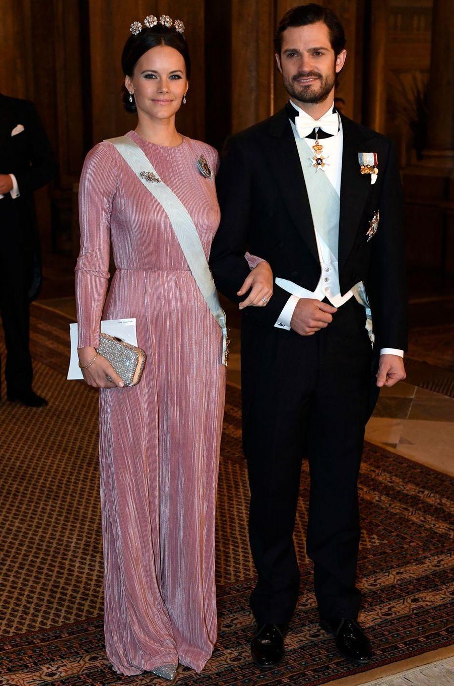 La princesse Sofia et le prince Carl Philip de Suède à Stockholm, le 11 décembre 2016