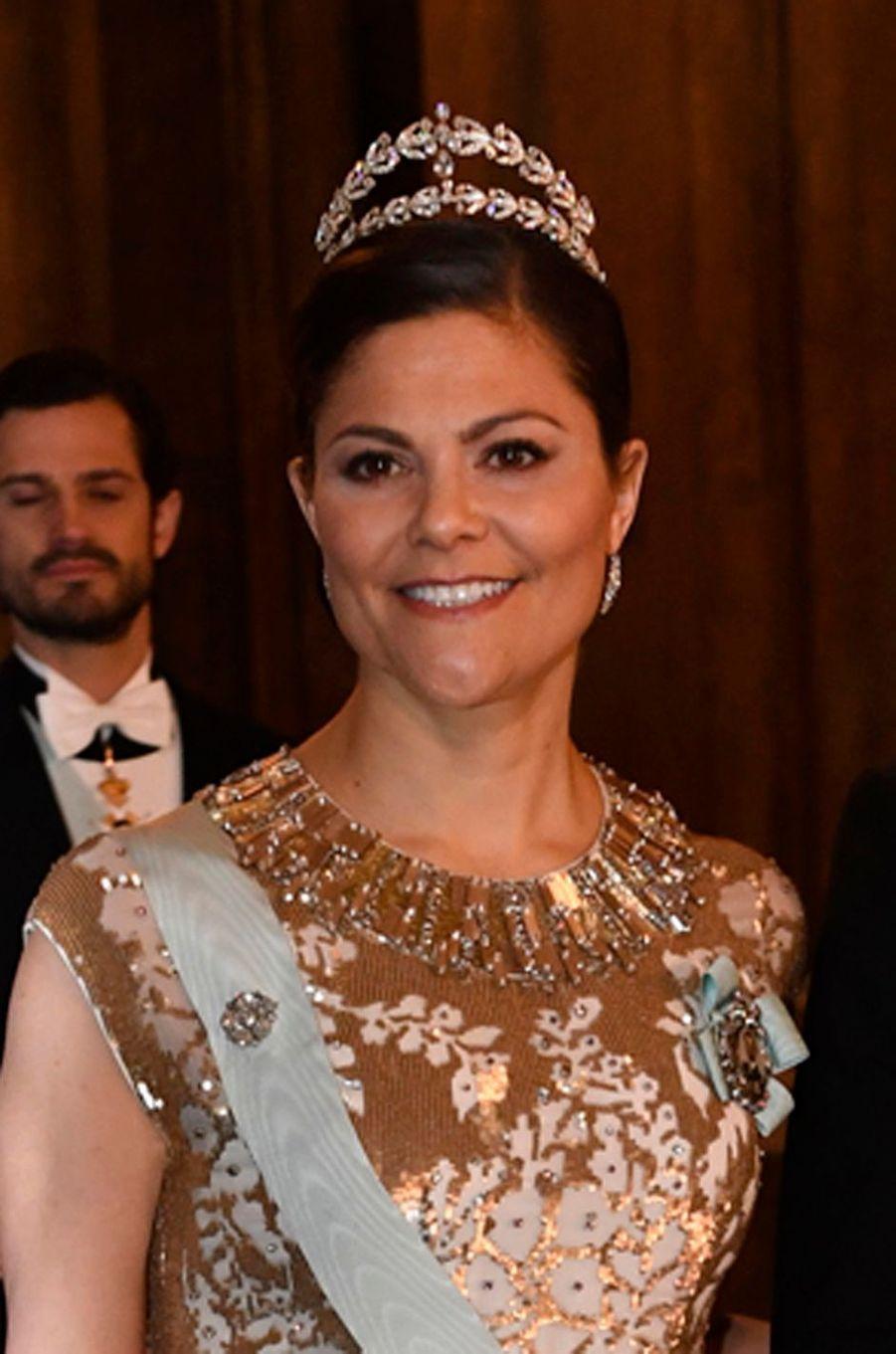 La princesse Victoria de Suède au Palais royal à Stockholm, le 11 décembre 2016