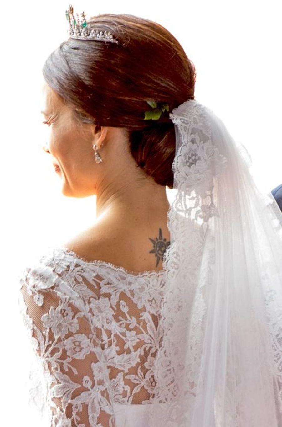 La princesse Sofia, resplendissante mariée, le 13 juin 2015