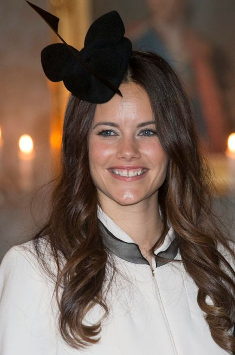 Sofia Hellqvist au Palais royal à Stockholm, le 17 mai 2015