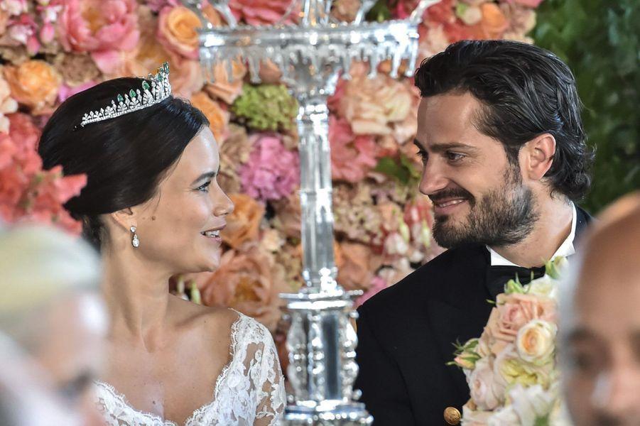 La princesse Sofia et le prince Carl Philip lors du dîner de leur mariage, le 13 juin 2015