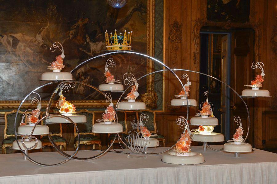 Le gâteau de mariage de la princesse Sofia et du prince Carl Philip de Suède, le 13 juin 2015
