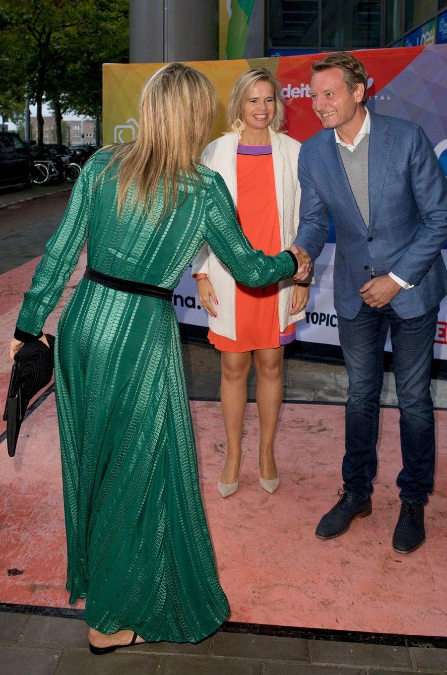 La reine Maxima des Pays-Bas à Amsterdam, le 11 septembre 2017