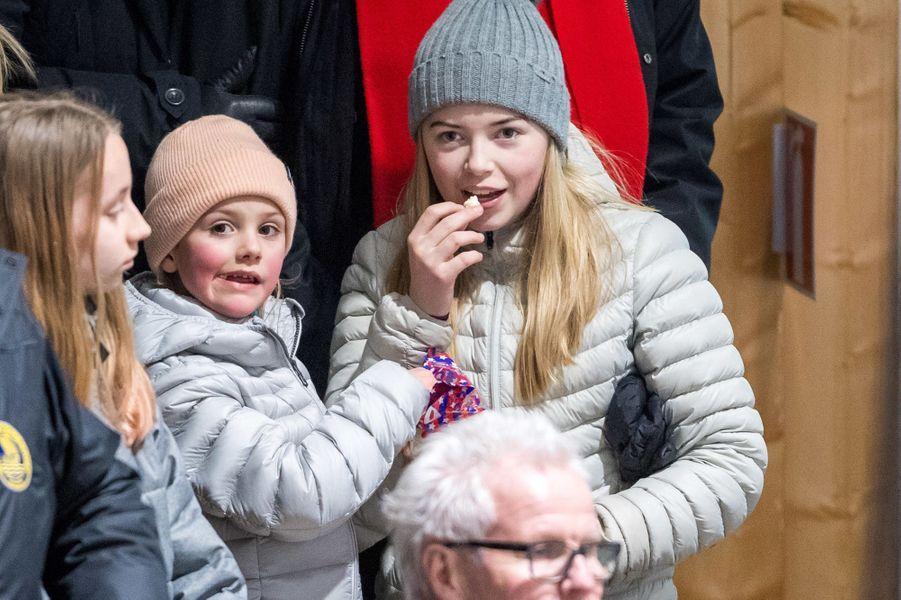 La princesse Estelle de Suède à Ockelbo, le 25 janvier 2018
