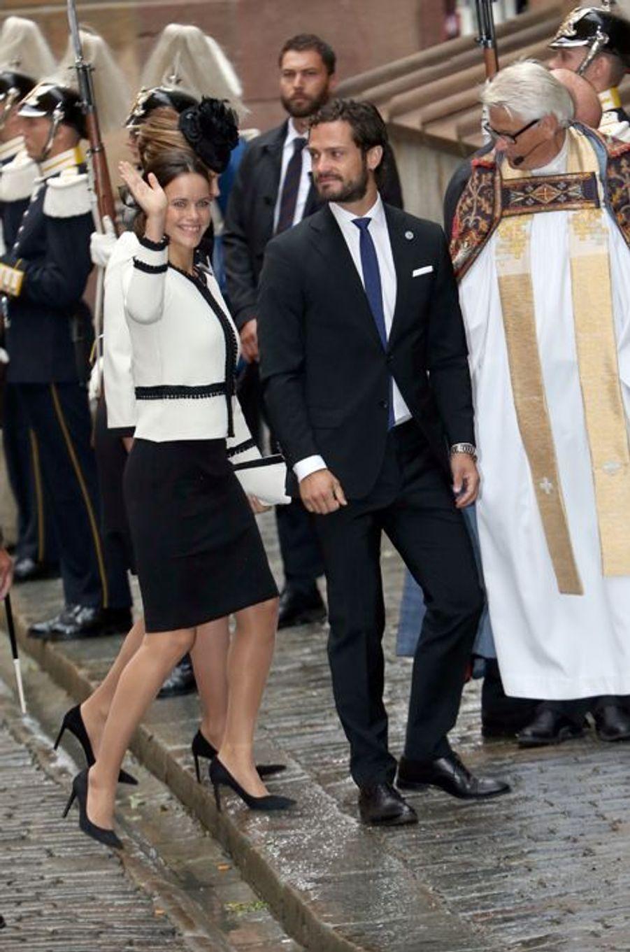 La princesse Sofia et le prince Carl Philip de Suède à Stockholm, le 15 septembre 2015