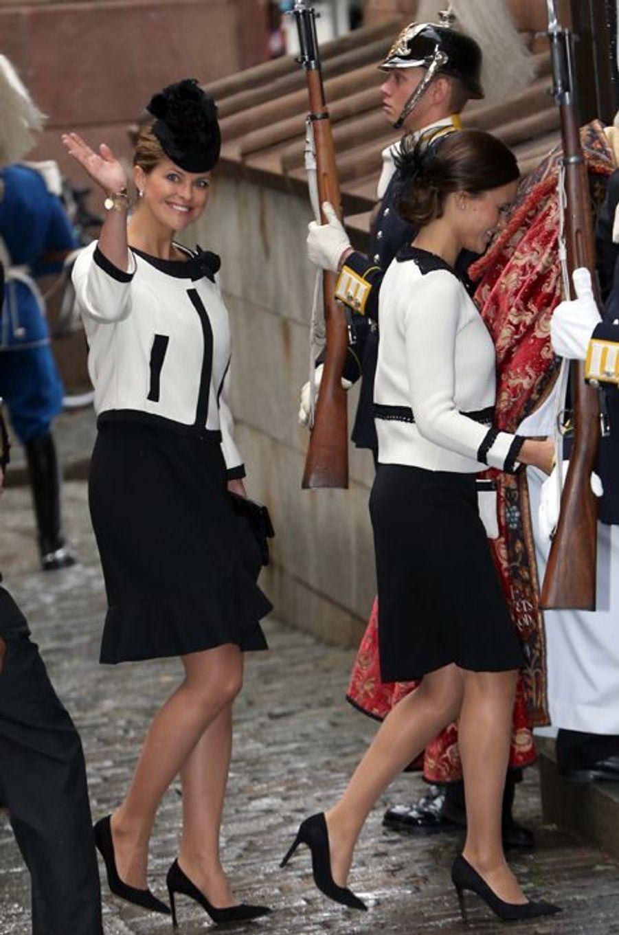 Les princesses Madeleine et Sofia de Suède à Stockholm, le 15 septembre 2015