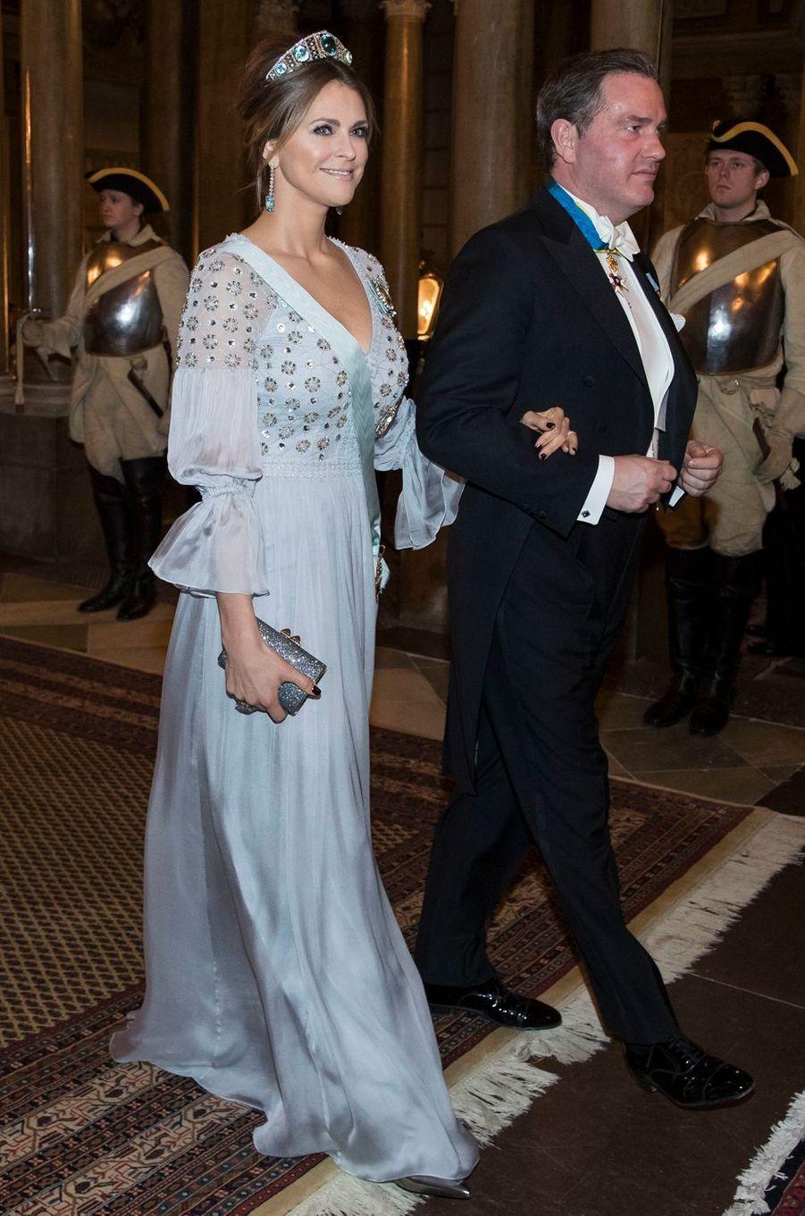 La princesse Madeleine de Suède dans une robe Temperley London le 20 février 2017