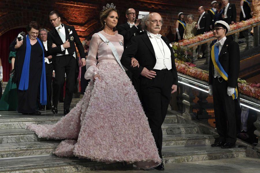 La princesse Madeleine de Suède dans une robe Fadi El Khoury le 10 décembre 2016