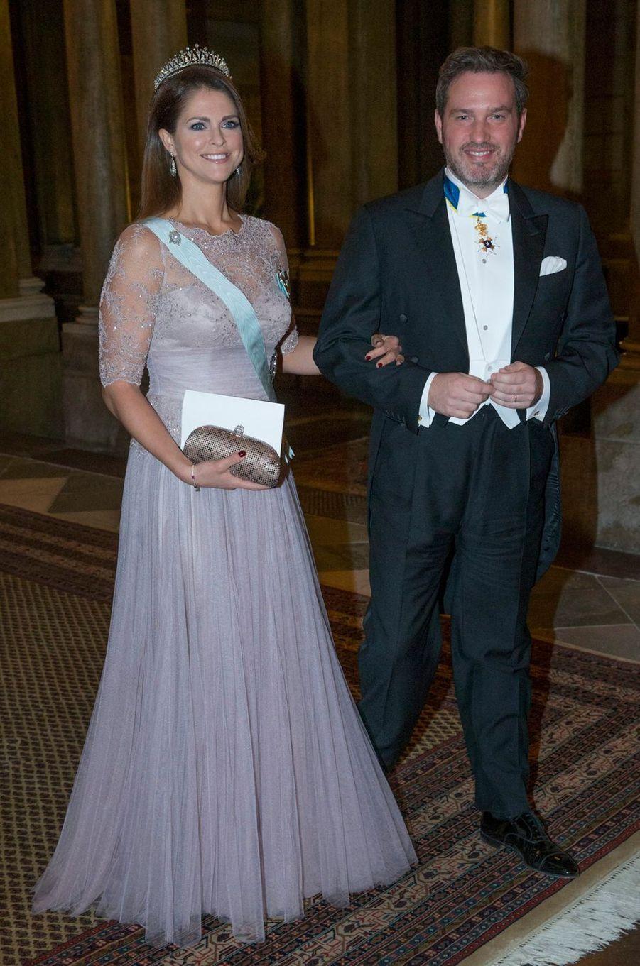 La princesse Madeleine de Suède dans une robe Fadi El Khoury le 11 décembre 2014