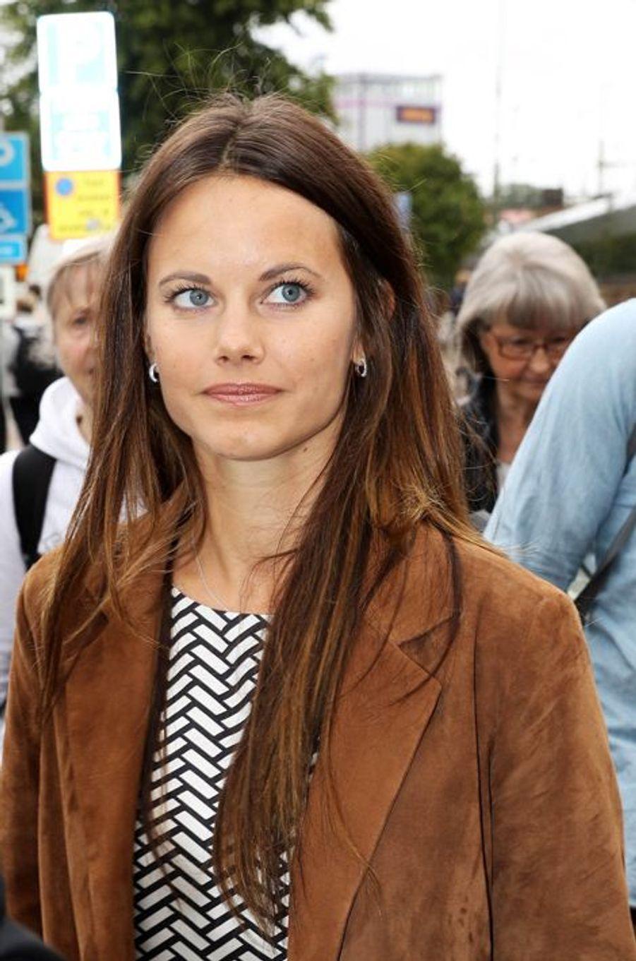 La princesse Sofia de Suède arrive dans le Värmland, le 26 août 2015