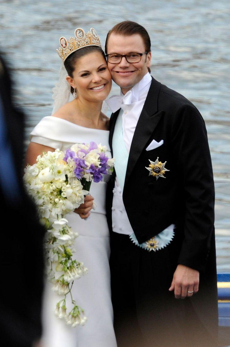 La princesse Victoria de Suède, le jour de son mariage le 19 juin 2010